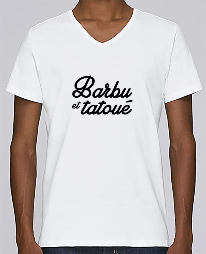 T-shirt Col V Homme Stanley Relaxes Barbu et tatoué par Nana