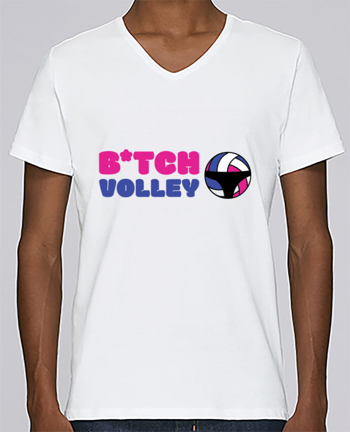 T-shirt Col V Homme Stanley Relaxes B*tch volley par tunetoo