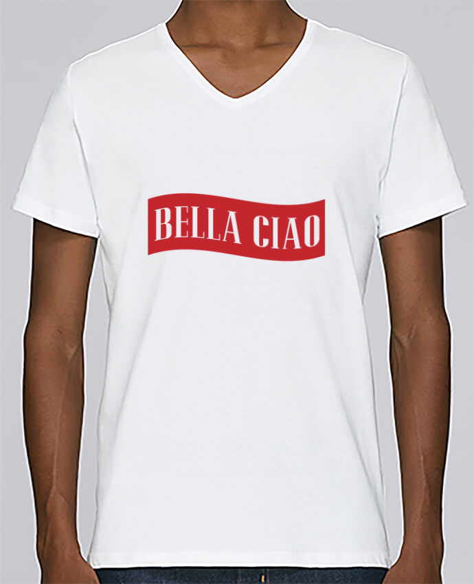 T-shirt Col V Homme Stanley Relaxes BELLA CIAO par tunetoo