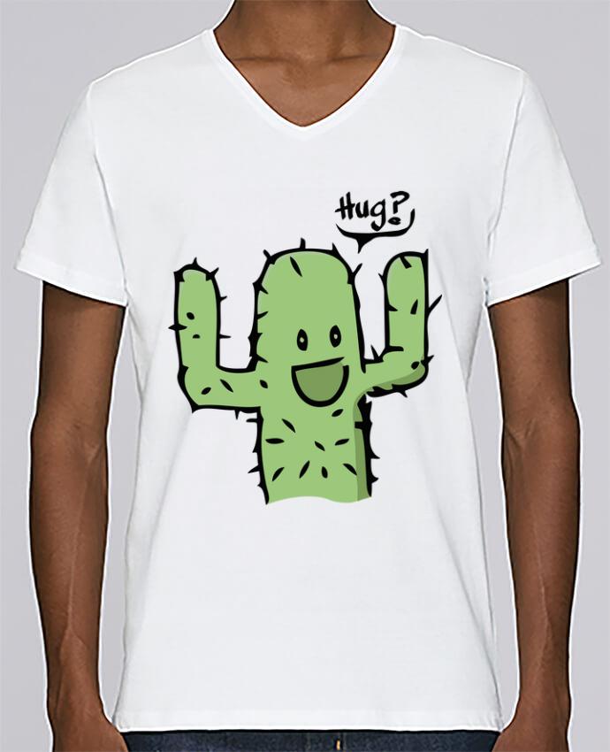 T-shirt Col V Homme Stanley Relaxes cactus calin gratuit par Tête Au Carré