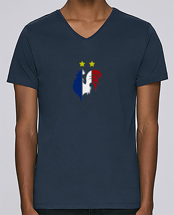 T-shirt Col V Homme Stanley Relaxes Champion du monde 2018 ! par AkenGraphics