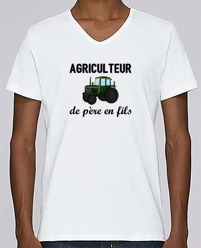 T-shirt Col V Homme Stanley Relaxes Agriculteur de père en fils par tunetoo