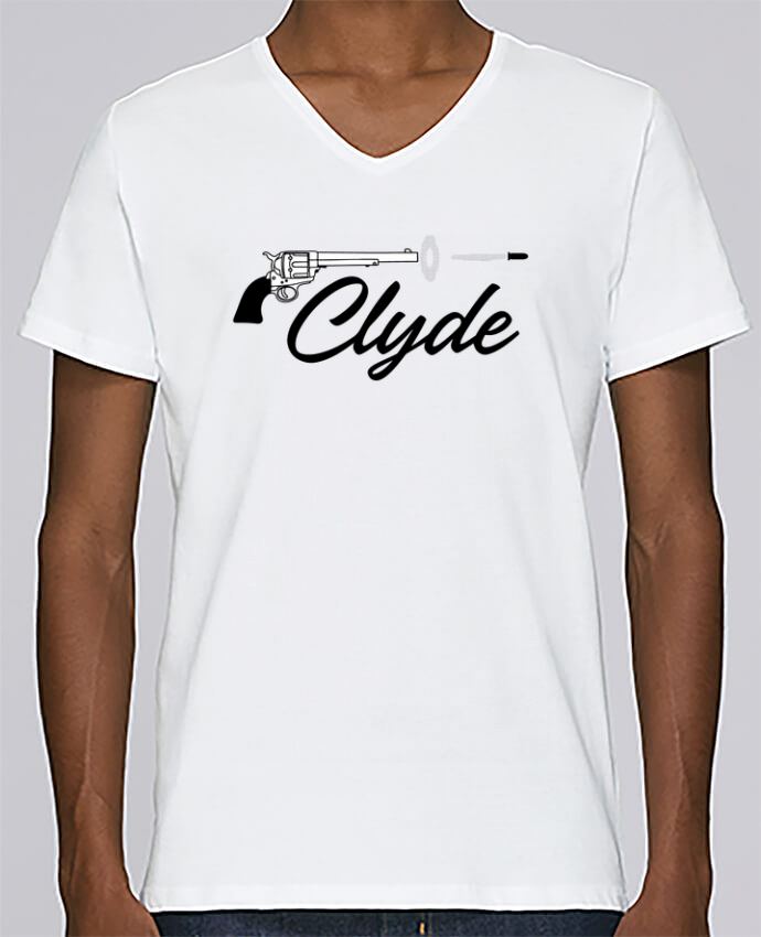 T-shirt Col V Homme Stanley Relaxes Clyde par tunetoo