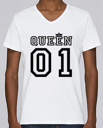 T-shirt Col V Homme Stanley Relaxes Queen 01 par tunetoo