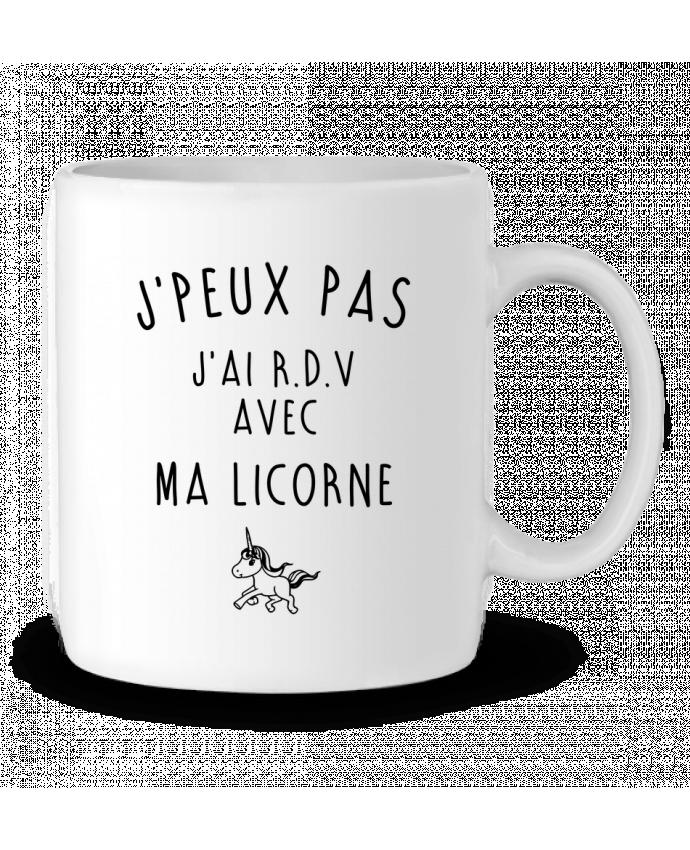 Mug en Céramique J'peux pas j'ai r.d.v avec ma licorne par LPMDL