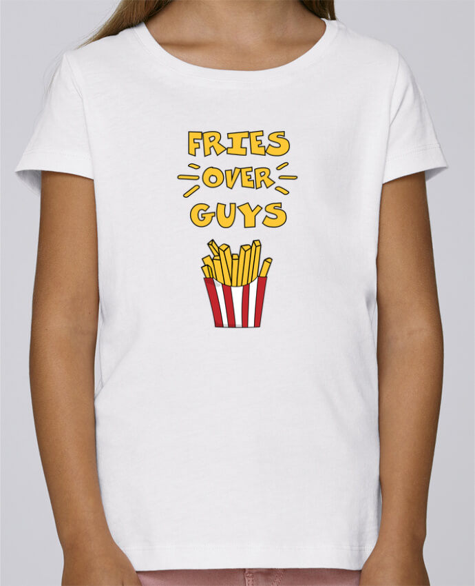 T-shirt Fille Mini Stella Draws Fries over guys par tunetoo