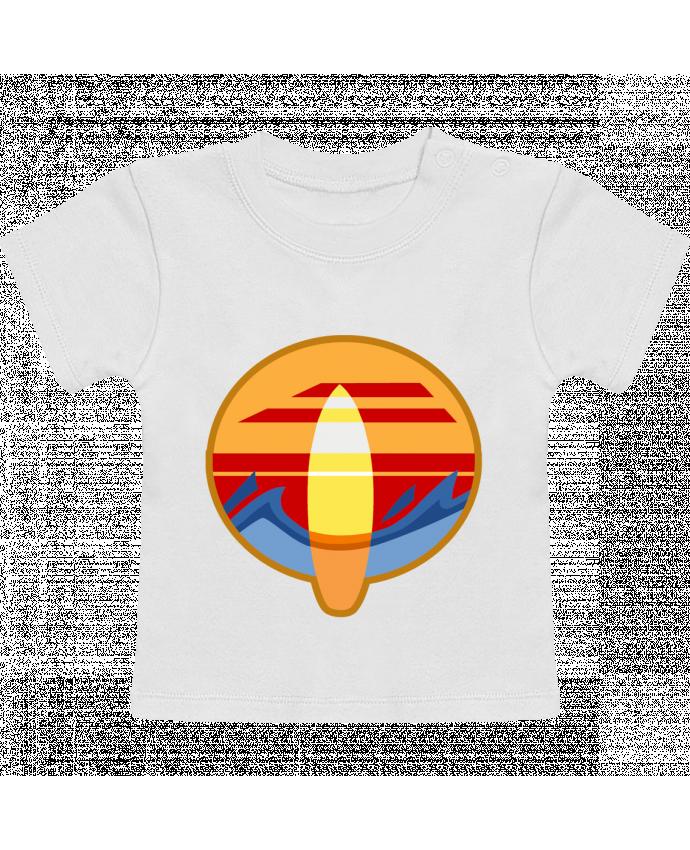T-Shirt Bébé Manches Courtes Logo Surf manches courtes du designer Tomi Ax