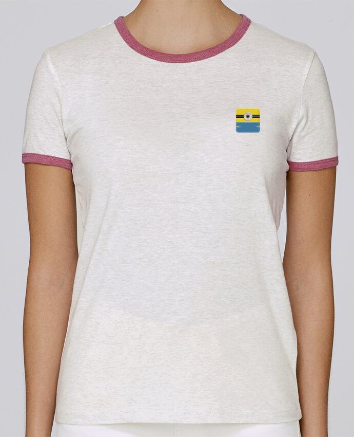 T-shirt Femme Stella Returns femme brodé Minion carré brodé par tunetoo