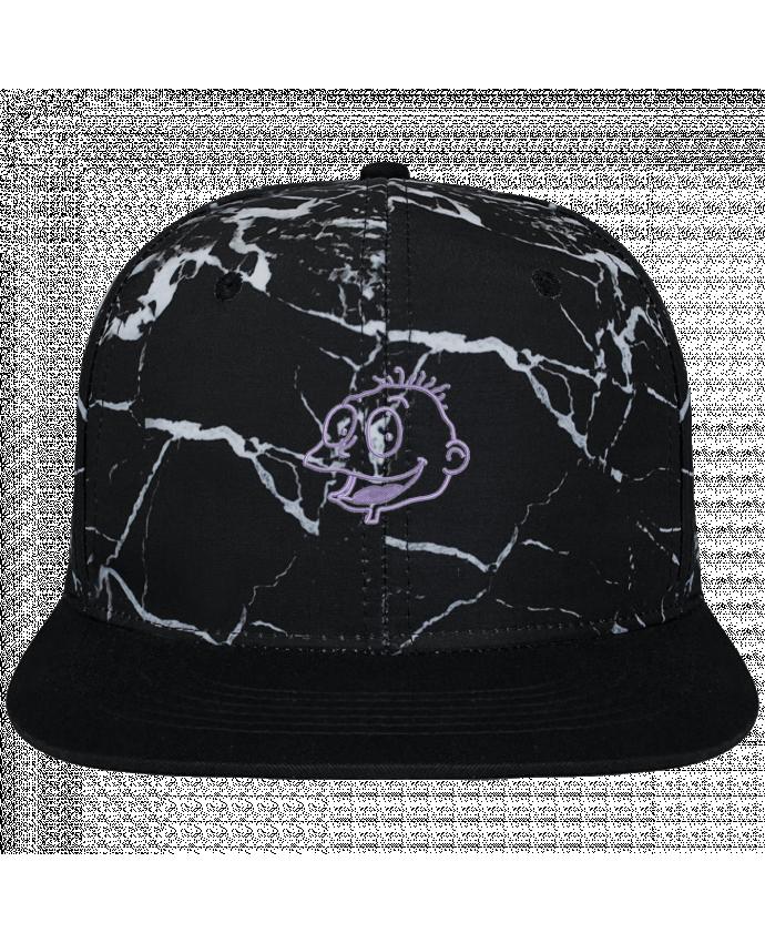 Casquette SnapBack Couronne Graphique Minéral Noir Razmoket brodé brodé et toile imprimée motif minéral noir et blanc