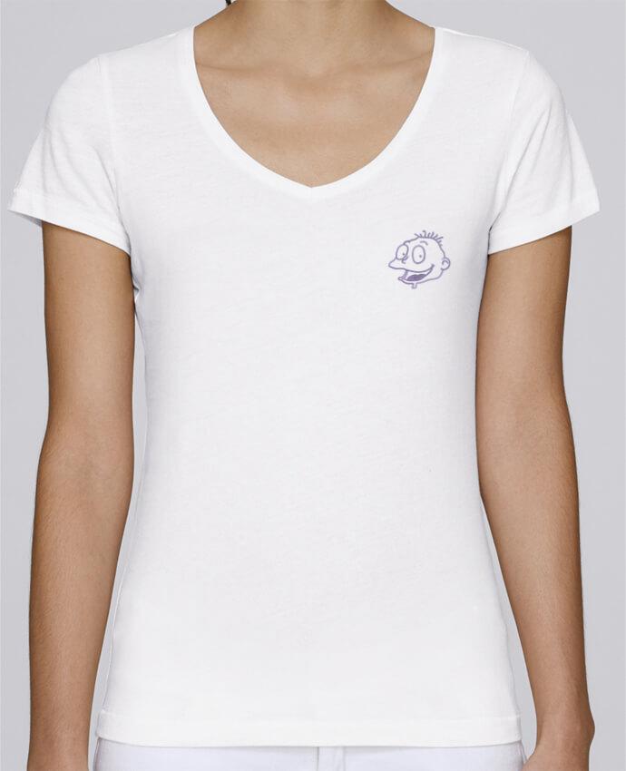 T-shirt femme brodé Stella Chooses Razmoket brodé par tunetoo