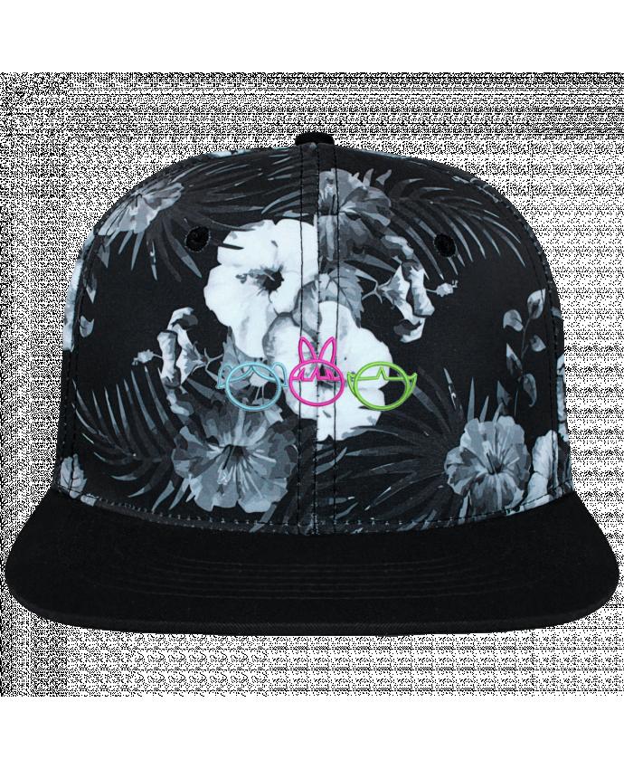 Casquette SnapBack Couronne Graphique Hawaii Les Supers Nanas brodé brodé et toile imprimée motif floral n
