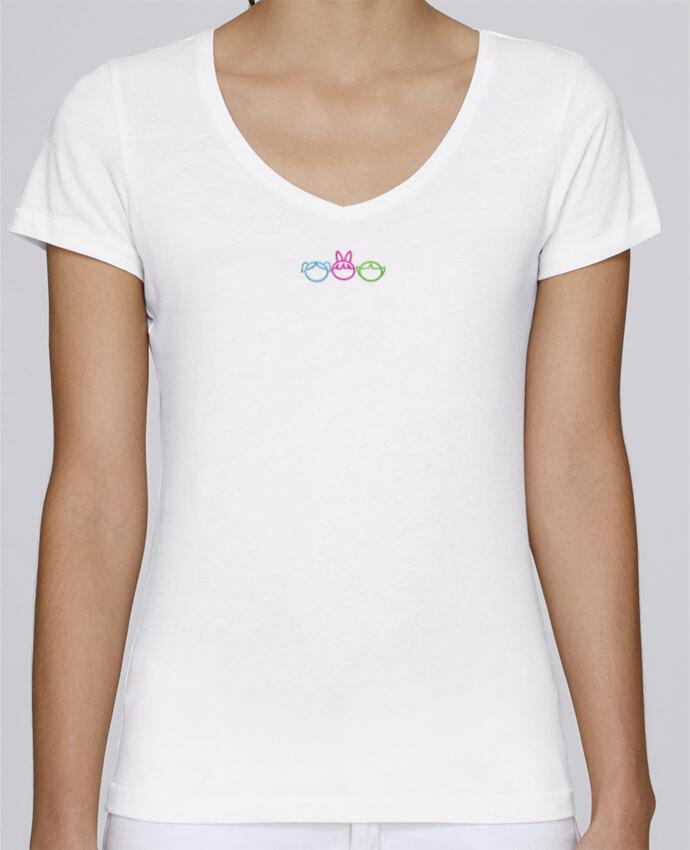 T-shirt femme brodé Stella Chooses Les Supers Nanas brodé par tunetoo