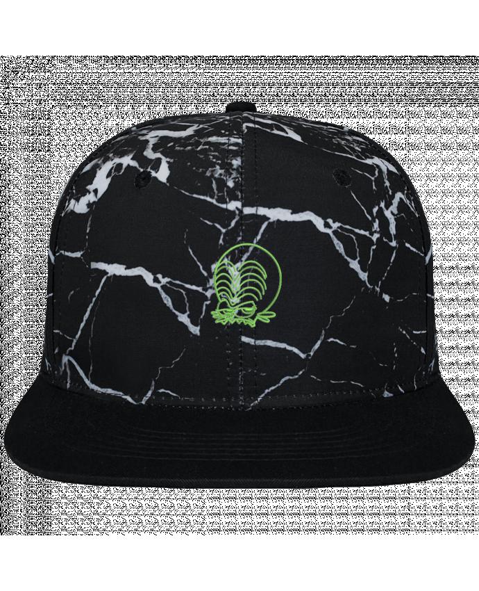 Casquette SnapBack Couronne Graphique Minéral Noir Zinzin de l'espace brodé brodé et toile imprimée motif minéral noi