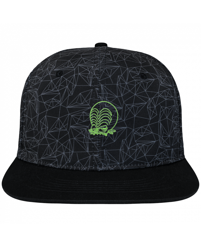 Casquette SnapBack Couronne Graphique Géométrique Zinzin de l'espace brodé brodé avec toile imprimée et visière no