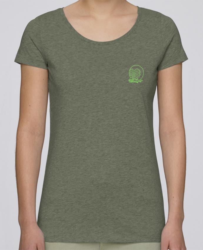 T-shirt  Femme Brodé Zinzin de l'espace brodé par tunetoo