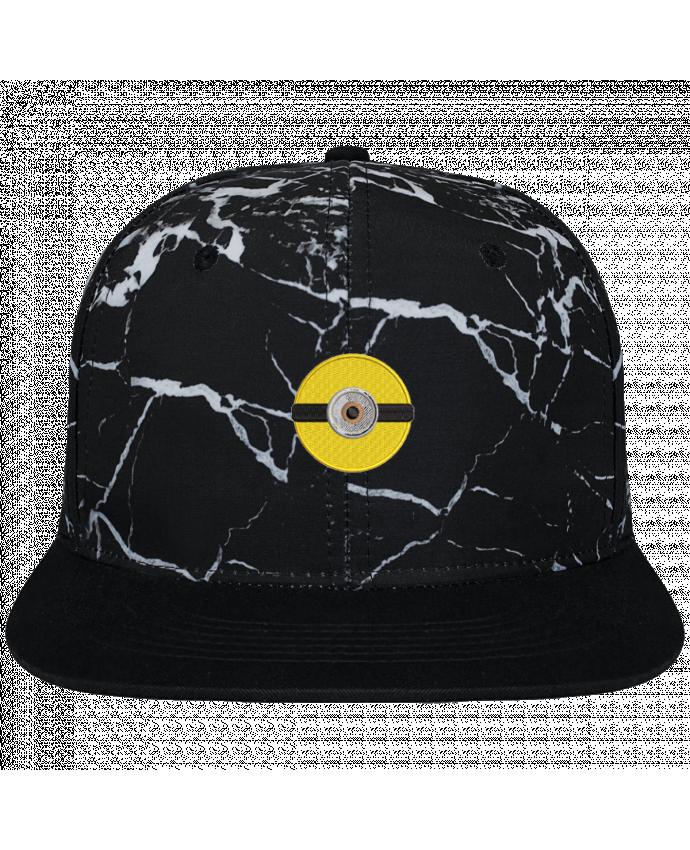 Casquette SnapBack Couronne Graphique Minéral Noir Minion rond brodé brodé et toile imprimée motif minéral noir et bla