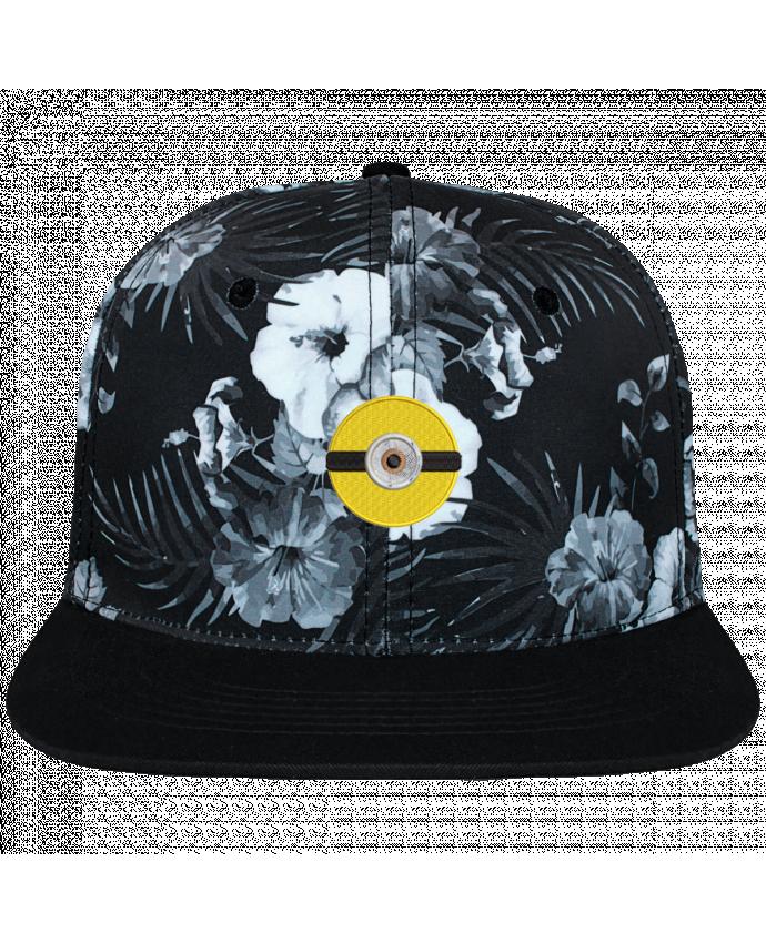 Casquette SnapBack Couronne Graphique Hawaii Minion rond brodé brodé et toile imprimée motif floral noir e