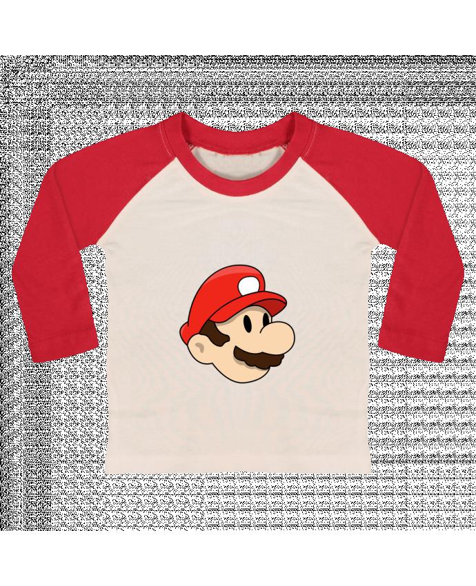 T-shirt Bébé Baseball Manches Longues Mario Duo par tunetoo