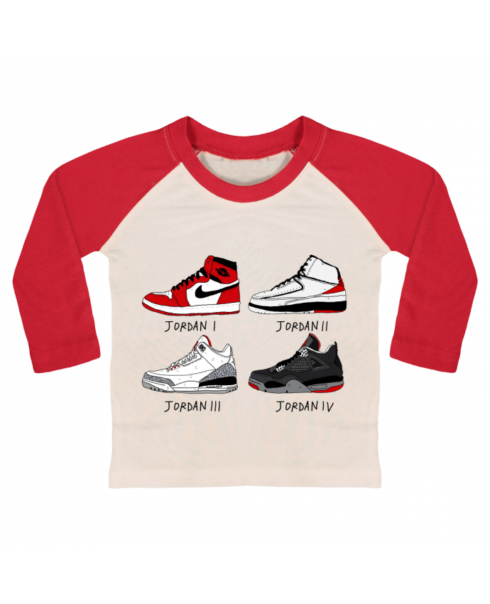 T-shirt Bébé Baseball Manches Longues Best of Jordan par Nick cocozza