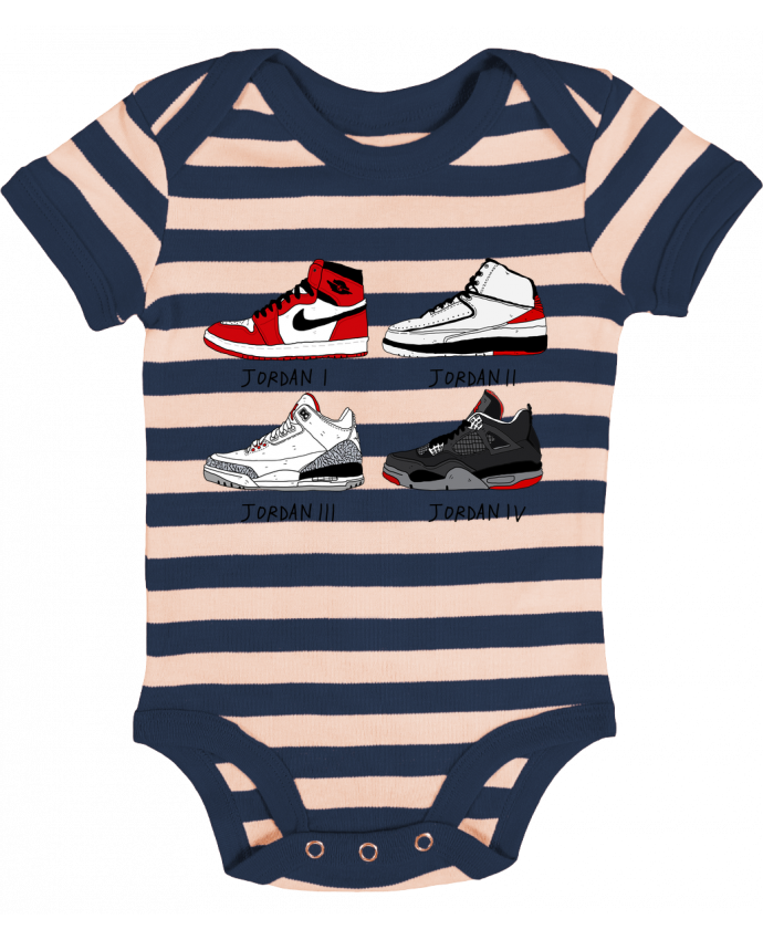 Body Bébé à Rayures Best of Jordan - Nick cocozza