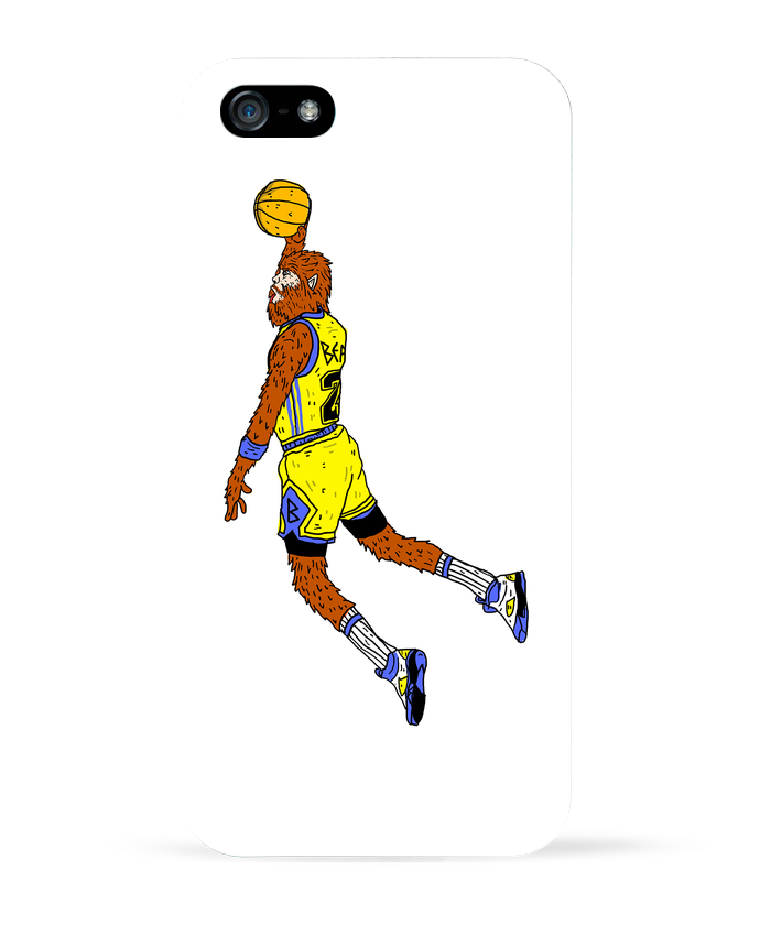 3761216 coque 3d iphone 5 blanc jordan wolf by nick cocozza