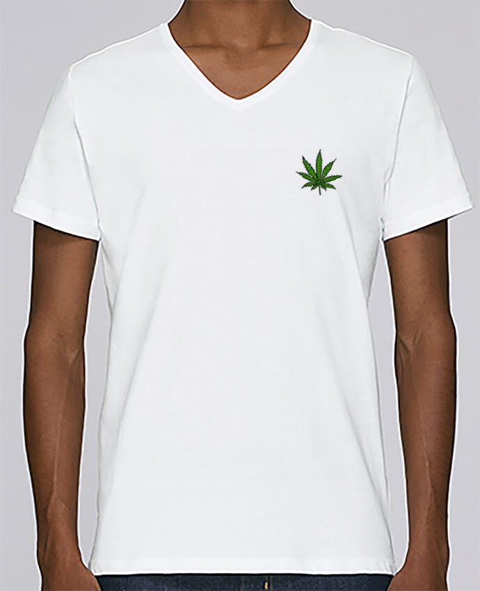 T-shirt Col V Homme Stanley Relaxes Cannabis par Nick cocozza