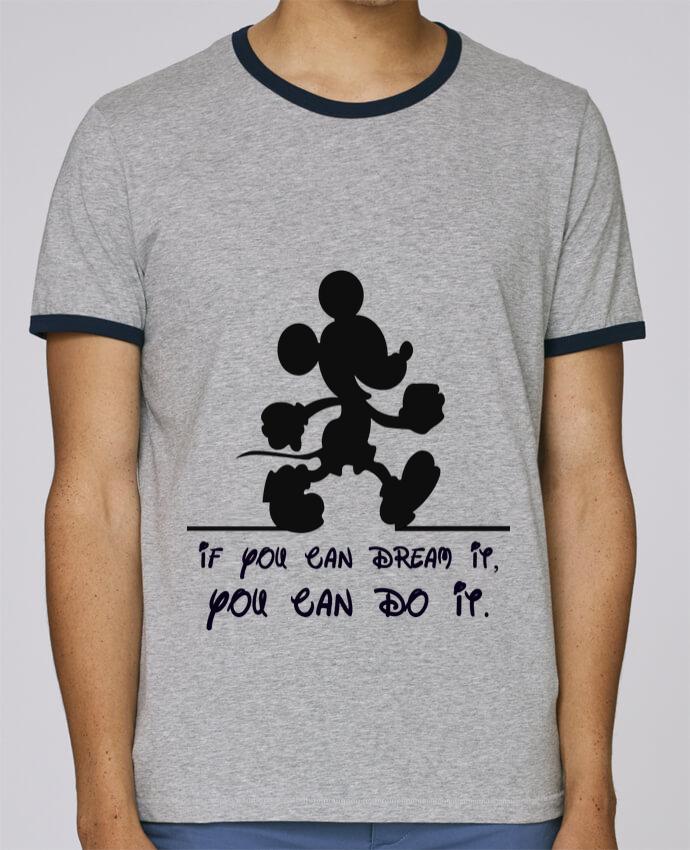 T-Shirt Ringer Contrasté Homme Stanley Holds MICKEY DREAM pour femme par stephfen