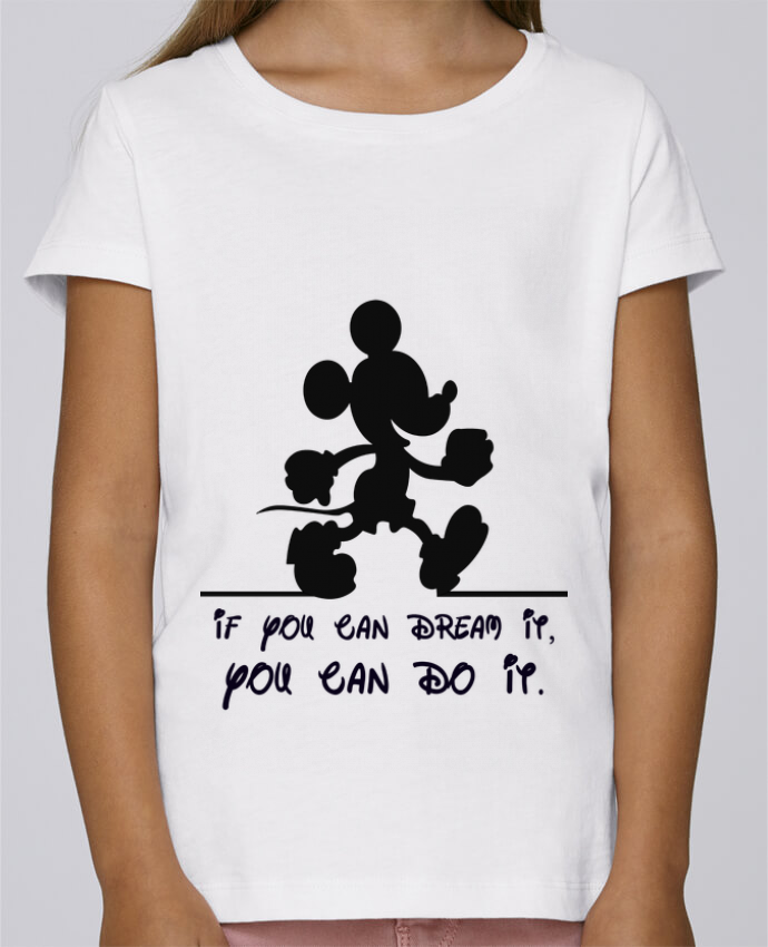 T-shirt Fille Mini Stella Draws MICKEY DREAM par stephfen