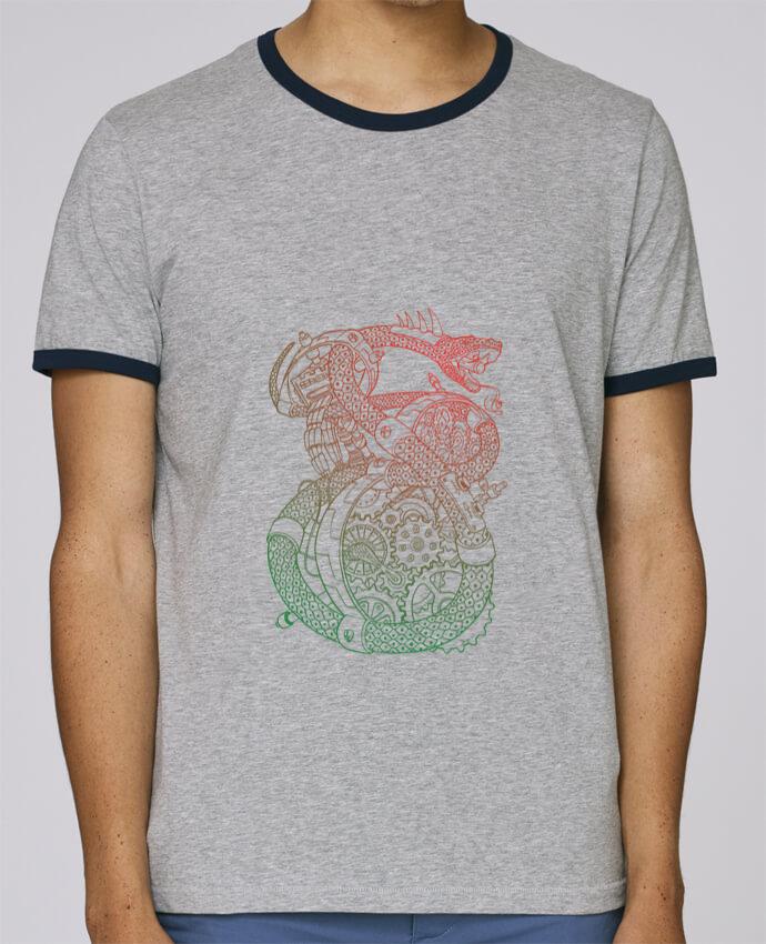 T-Shirt Ringer Contrasté Homme Stanley Holds Méca Serpent pour femme par Tomi Ax