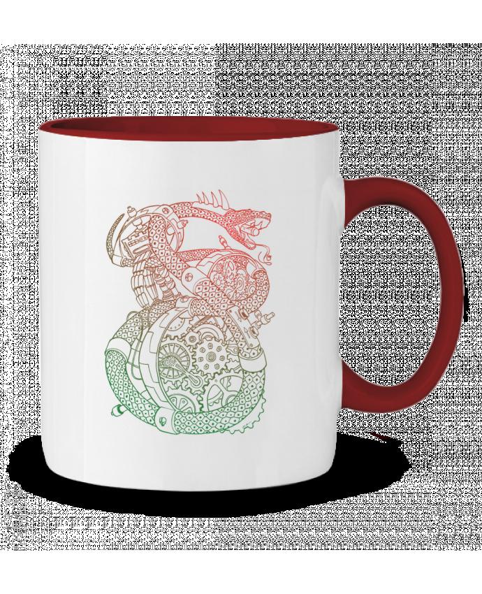 Mug en Céramique Bicolore Méca Serpent Tomi Ax