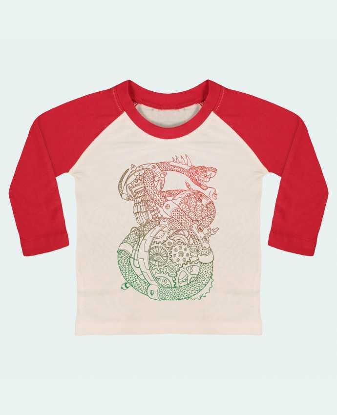 T-shirt Bébé Baseball Manches Longues Méca Serpent par Tomi Ax