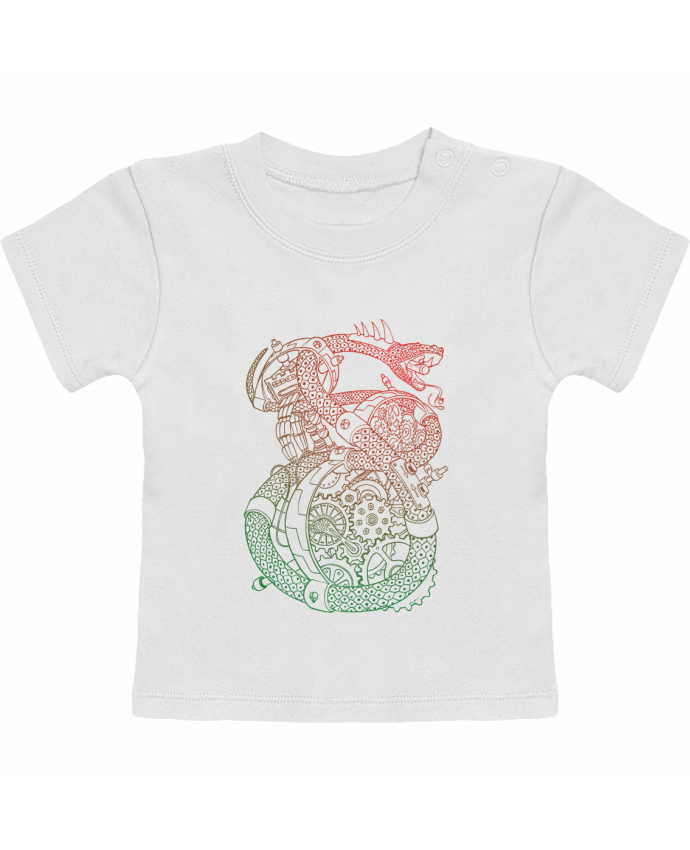 T-Shirt Bébé Manches Courtes Méca Serpent manches courtes du designer Tomi Ax