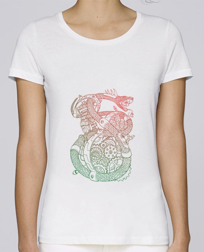 T-shirt Femme Stella Loves Méca Serpent par Tomi Ax