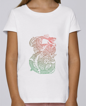 T-shirt Fille Mini Stella Draws Méca Serpent par Tomi Ax