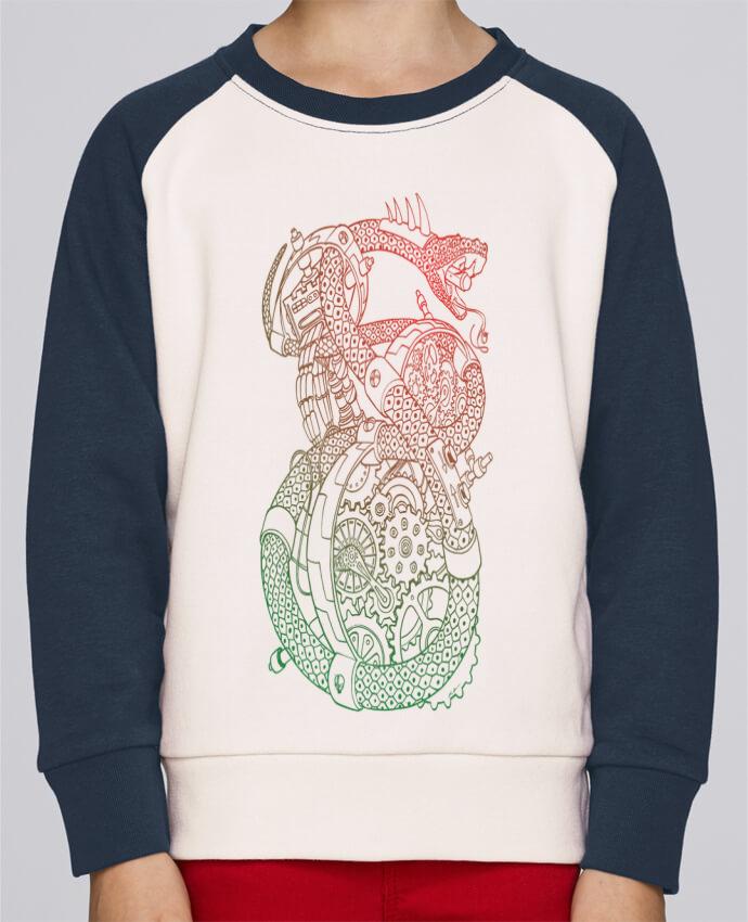 Sweat Shirt Col Rond Enfant Stanley Mini Contrast Méca Serpent par Tomi Ax