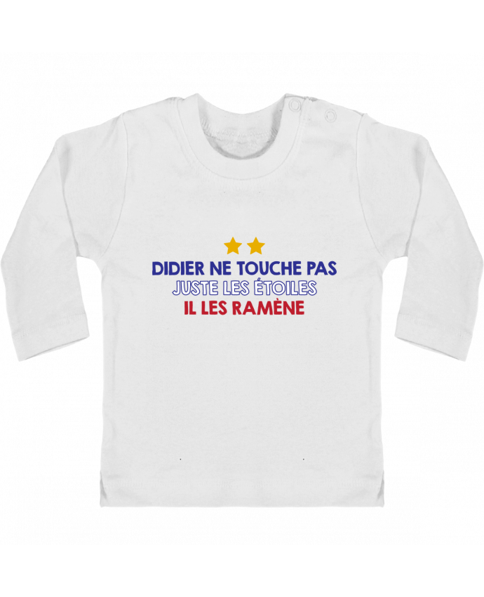 T-shirt Bébé Manches Longues Boutons Pression Didier Champion manches longues du designer tunetoo