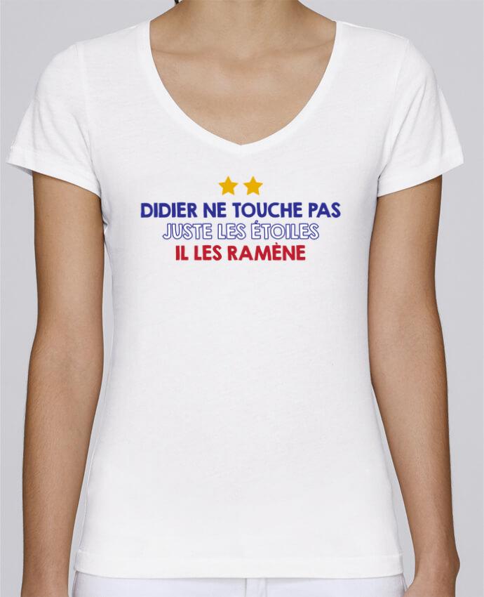 T-shirt Femme Col V Stella Chooses Didier Champion par tunetoo