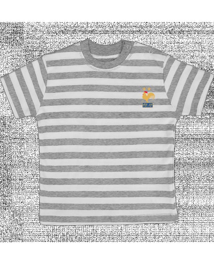 T-shirt Bébé à Rayures France champion du monde 2018 par Mhax