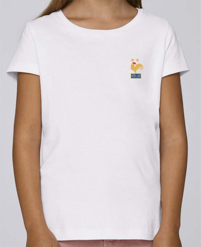 T-shirt Fille Mini Stella Draws France champion du monde 2018 par Mhax