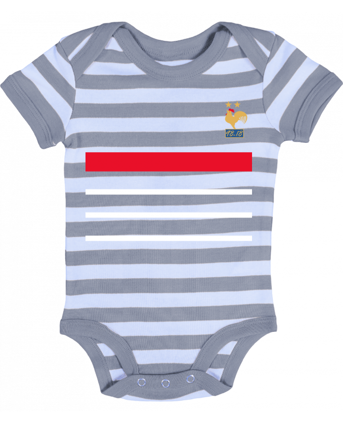Body Bébé à Rayures La France Champion du monde 2018 rétro - Mhax