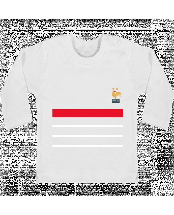 T Shirt Bebe Manches Longues Boutons Pression La France Champion Du Monde 2018 Retro Manches Longues Du Designer Mhax