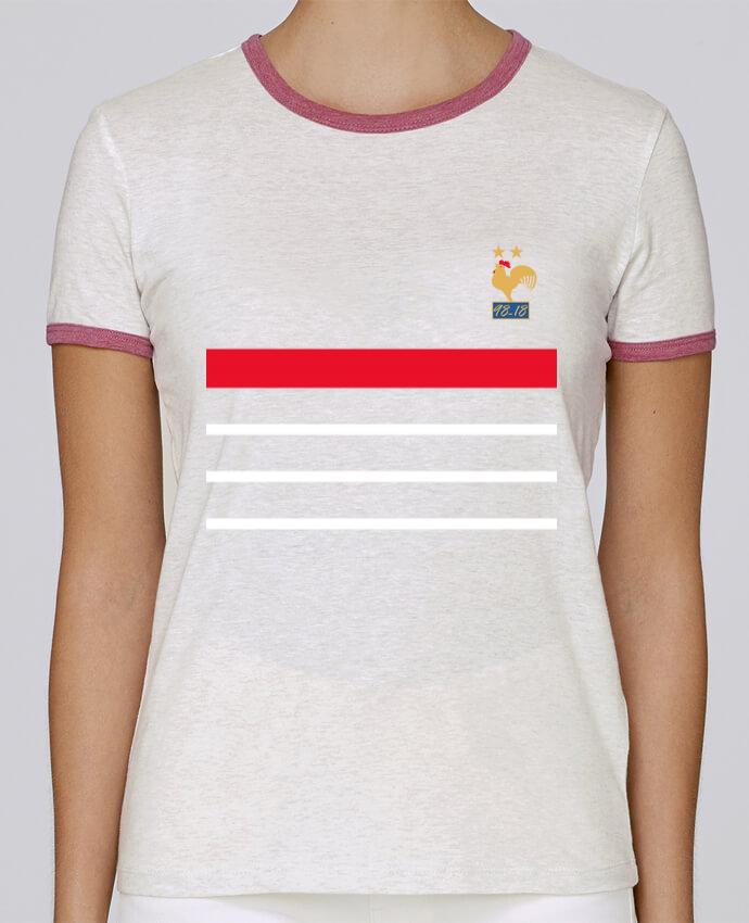 T-shirt Femme Stella Returns La France Champion du monde 2018 rétro pour femme par Mhax