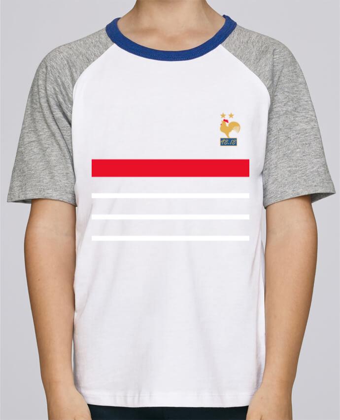 Tee-Shirt Enfant Stanley Mini Jump Short Sleeve La France Champion du monde 2018 rétro par Mhax