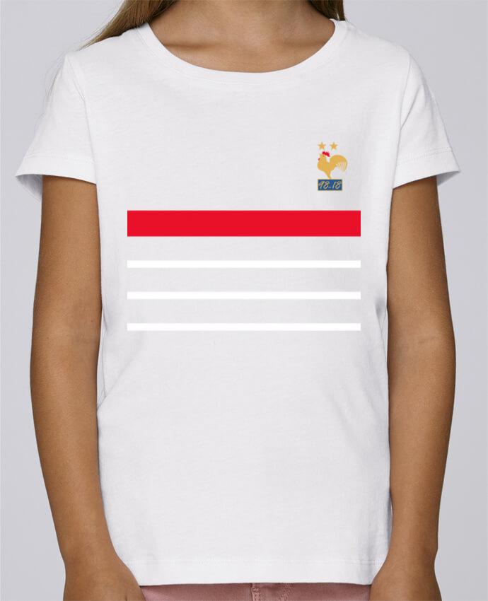 T-shirt Fille Mini Stella Draws La France Champion du monde 2018 rétro par Mhax