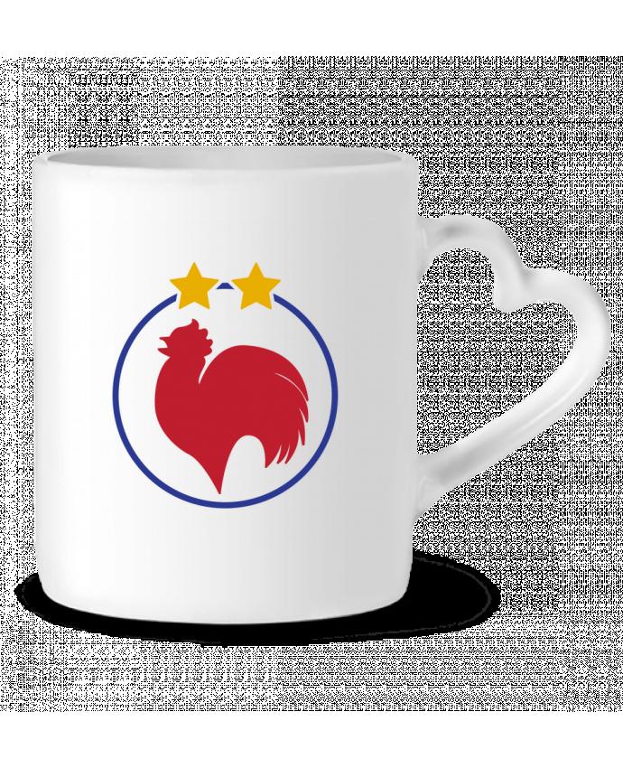 Mug Coeur Champion Coq 2 étoiles par tunetoo