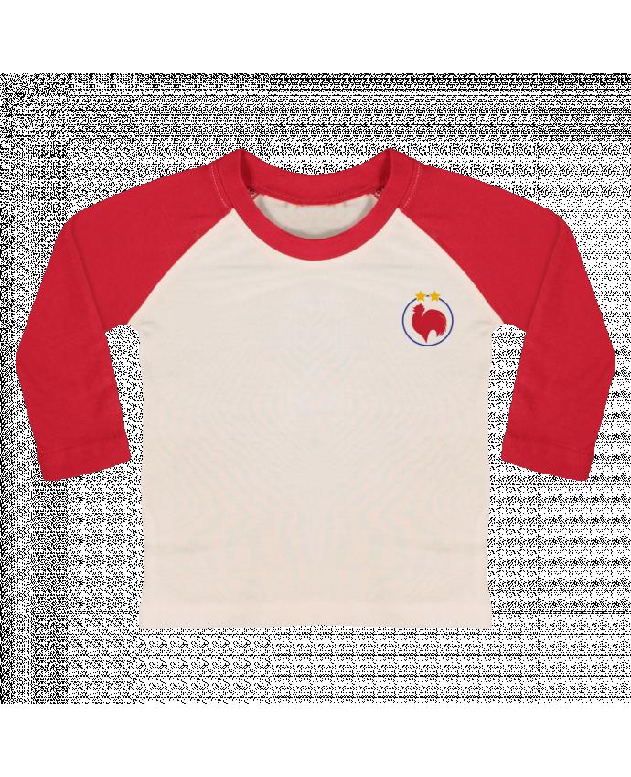 T-shirt Bébé Baseball Manches Longues Champion Coq 2 étoiles par tunetoo