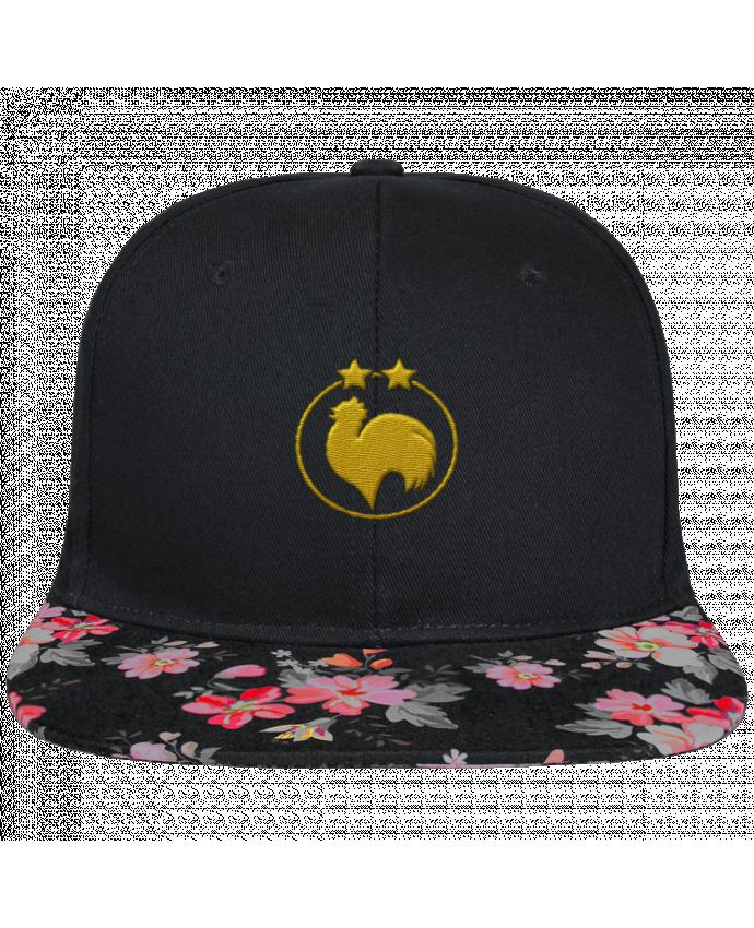Casquette SnapBack Visière Graphique Noir Floral Champion 2 étoiles brodé brodé et visière à motifs 100% polyester et toile cot