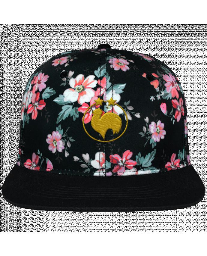 Casquette Snapback Couronne Graphique Floral Noir Champion 2 étoiles brodé brodé avec toile motif à fleurs 100% polyes