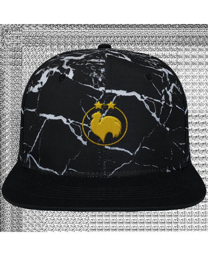 Casquette SnapBack Couronne Graphique Minéral Noir Champion 2 étoiles brodé brodé et toile imprimée motif minéral noir