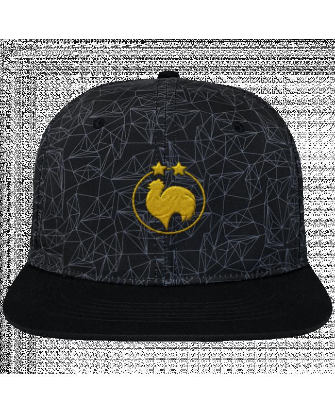 Casquette SnapBack Couronne Graphique Géométrique Champion 2 étoiles brodé brodé avec toile imprimée et visière noi